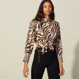 Printed silk shirt - Pink