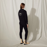 Zipped hoodie with an embroidered back - Navy