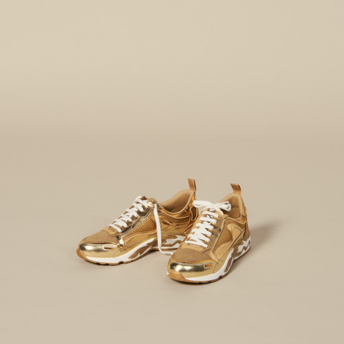 Flame Trainers In Full Gold - Gold