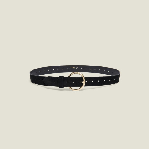 Sandro Lila Black leather belt