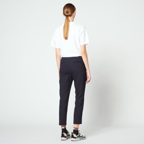 Plain darted trousers - Navy