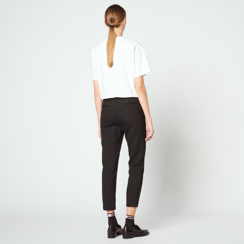 Plain darted trousers - Black