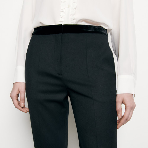 Straight cut suit trousers - Black