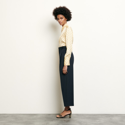Tailored wool trousers - Navy