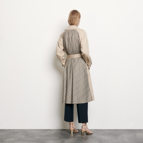 Trenchcoat with insert at the back - Beige