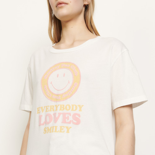 Organic cotton T shirt with smiley - Multiclr