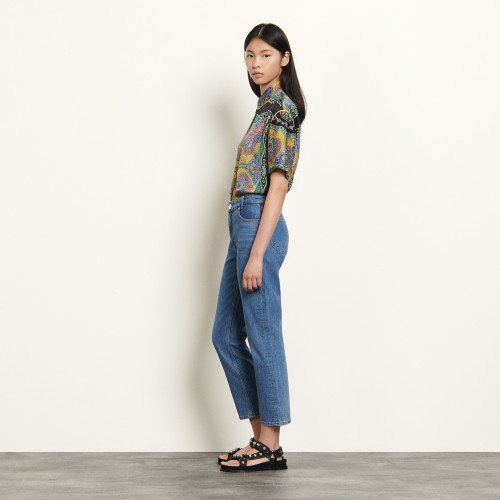 Stretch jeans with 5 pockets - Blue