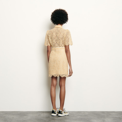 Short lace dress  - Eggshell