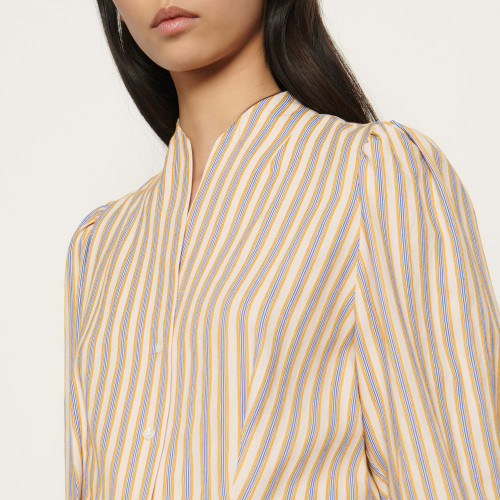 Shirt with fancy stripes - Multiclr