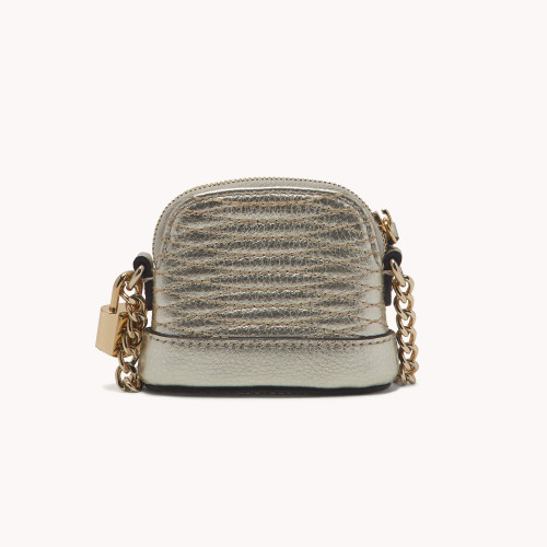 Leather mini bag - Gold