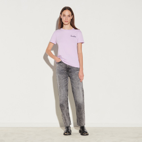 Sandro chain embroidery T-shirt