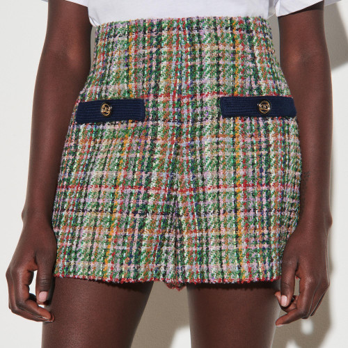 Multicoloured tweed shorts - Multiclr