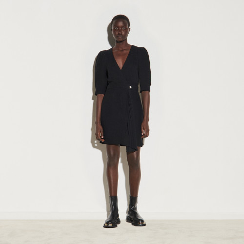 Short wraparound dress - Black