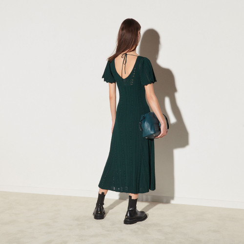 Long knit dress - Green