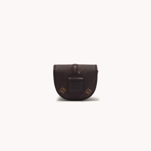 Belt bag with contrasting monogram - Brown