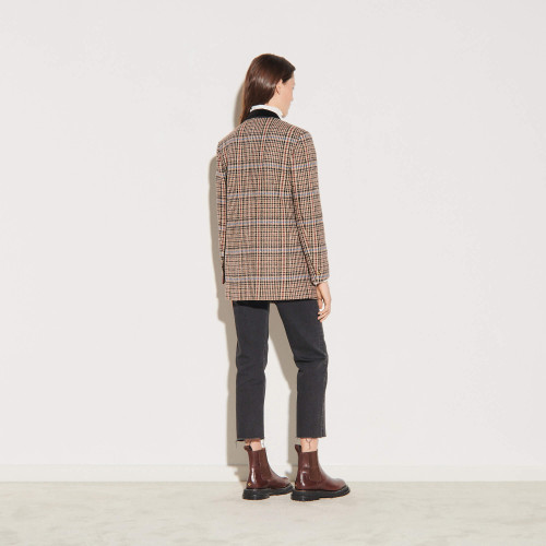 Checked tweed tailored jacket - Multiclr