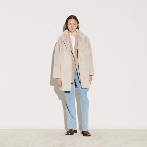 Faux fur coat - Beige