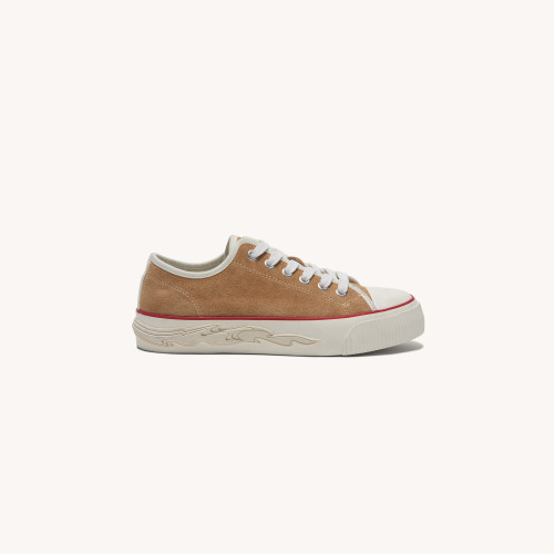Suede trainers with flame sole