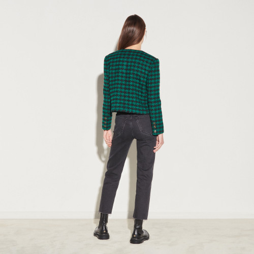 Short tweed jacket - Green