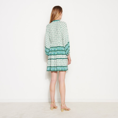 Short printed shirt dress - Green