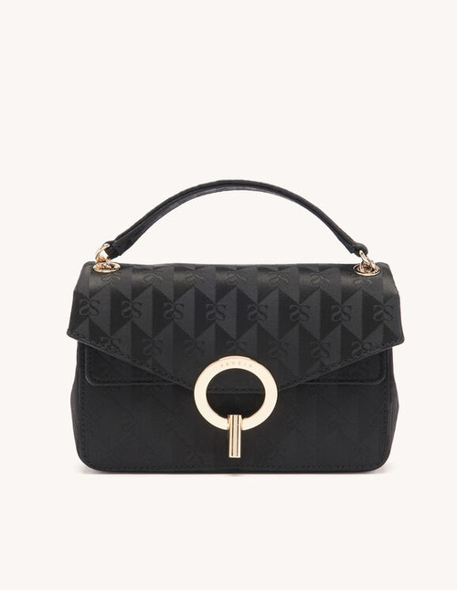 YZA handbag bag, small model in Black by sandro paris