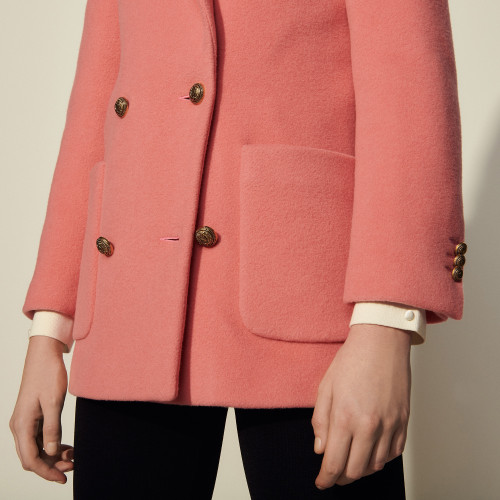 Double breasted pea coat - Pink