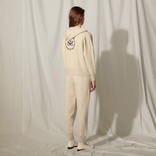 Zipped hoodie with an embroidered back - Multiclr