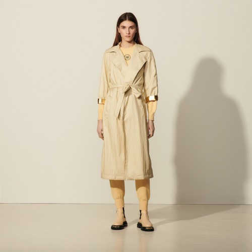 Flowing trench coat - Beige