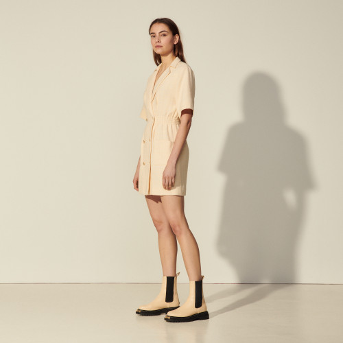 Sandro Dress with tailored collar