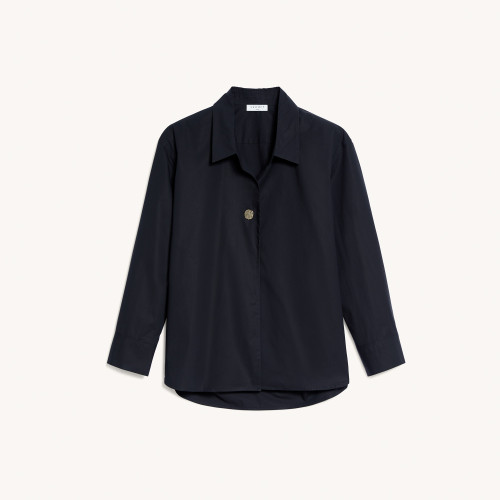 Oversized shirt with fancy button - Black