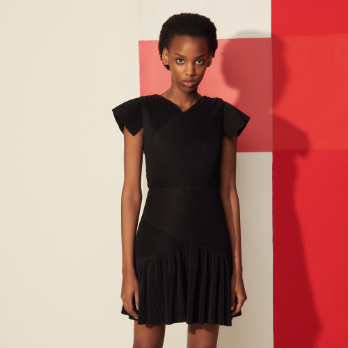 Short pleated dress - Black