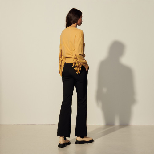 Sandro Wool and cashmere sweater with fringing