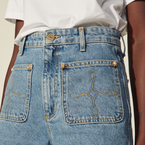 Sandro Denim Bermuda shorts