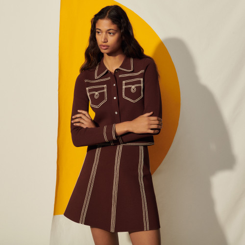 Brown skirt a line by Sandro Paris