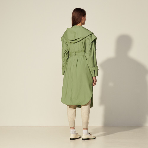 Sandro Long coat with hood