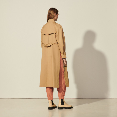 Sandro Trench Coat Camel