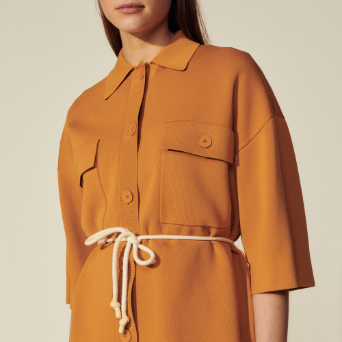 Sandro Oversized overshirt-style coatigan