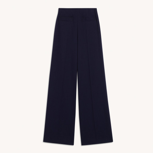 Long Navy high waisted pants by Sandro