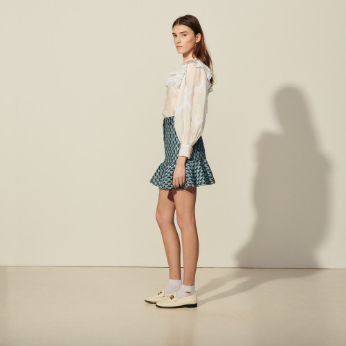 Sandro denim blue skirt mini