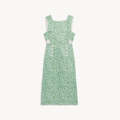 Sandro Long printed dress with wide straps