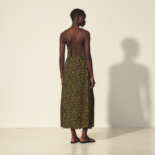 Sandro strappy maxi dress