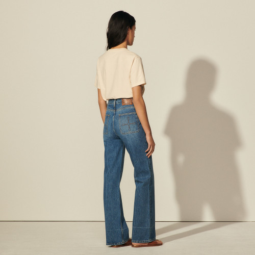 Sandro Hector Denim High Waisted Jeans