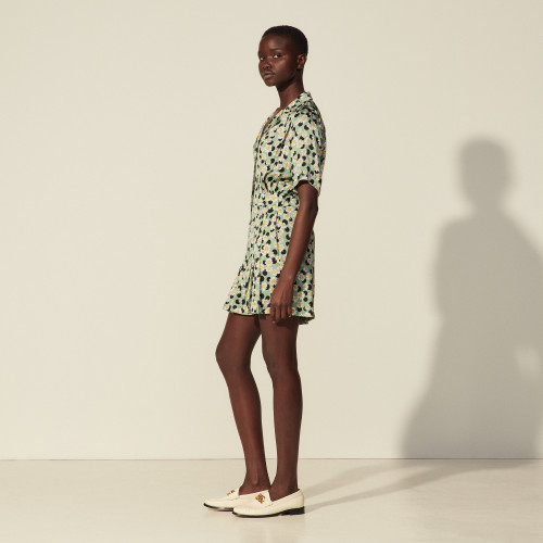 Sandro Printed playsuit