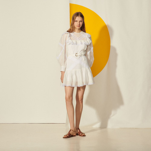 Sandro Belem Dress white lace dress