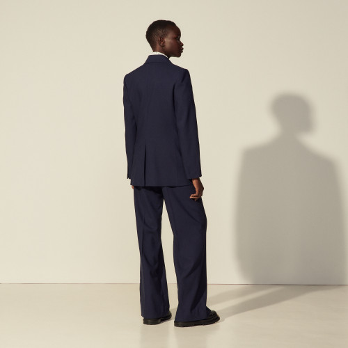 Viscose tailored jacket - Navy