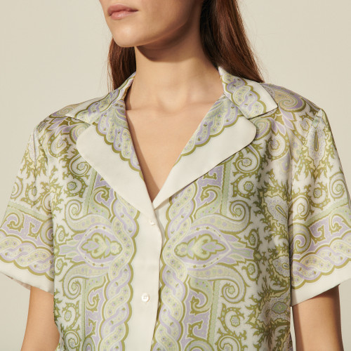 Short sleeve printed pyjama shirt - Multiclr