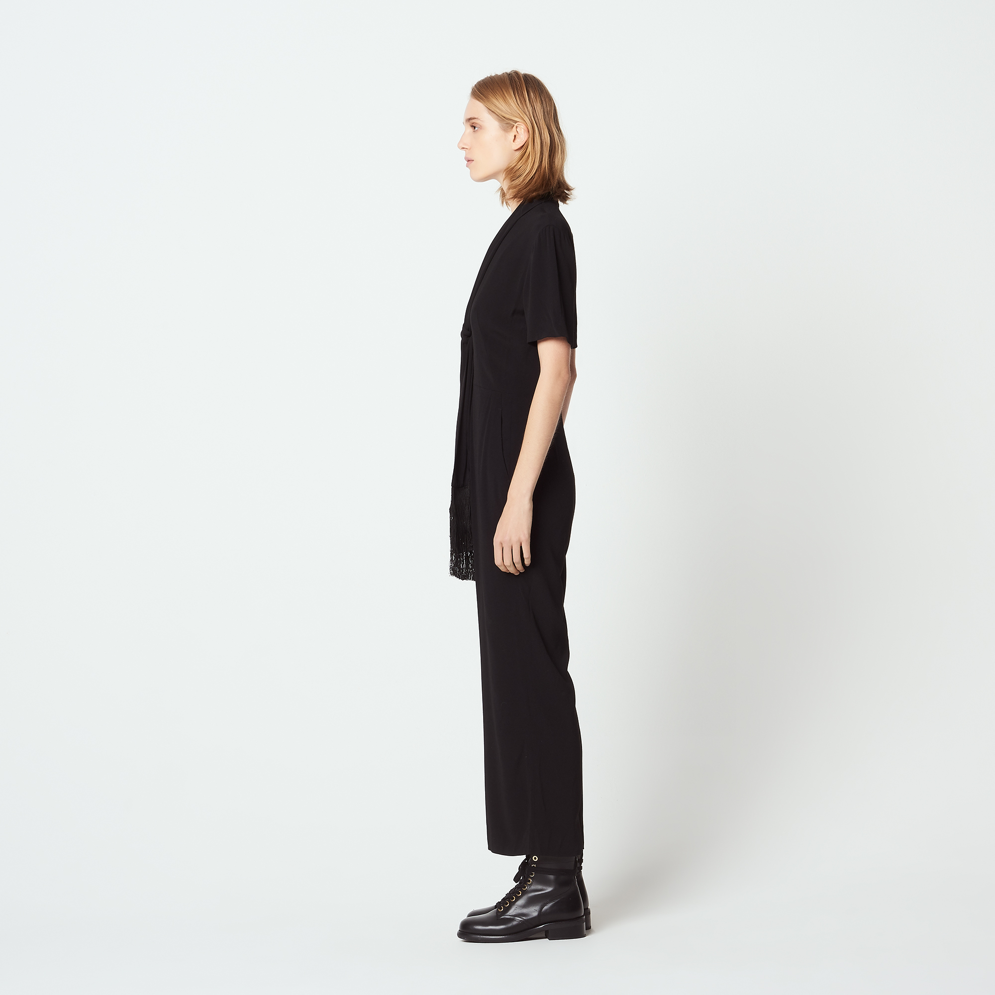 7/8 length jumpsuit  - Black