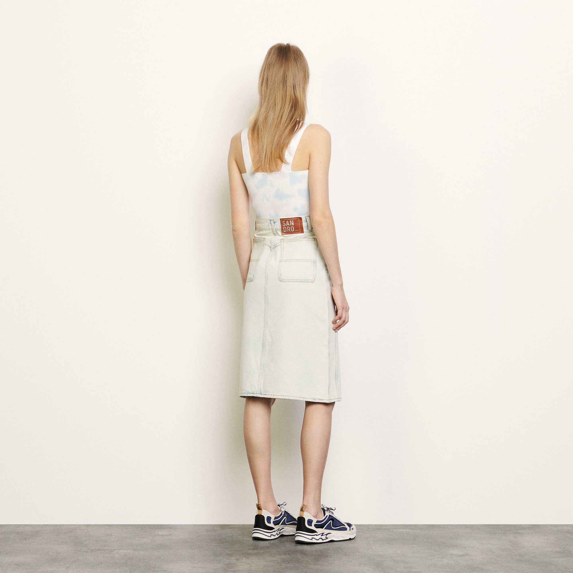 Snow wash denim skirt - Denim