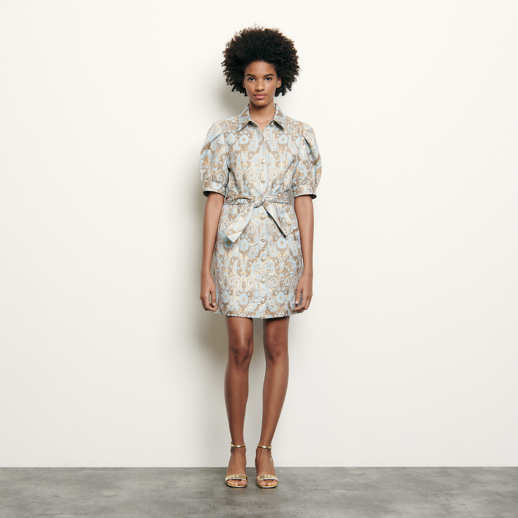 Brocade coat dress - Multiclr