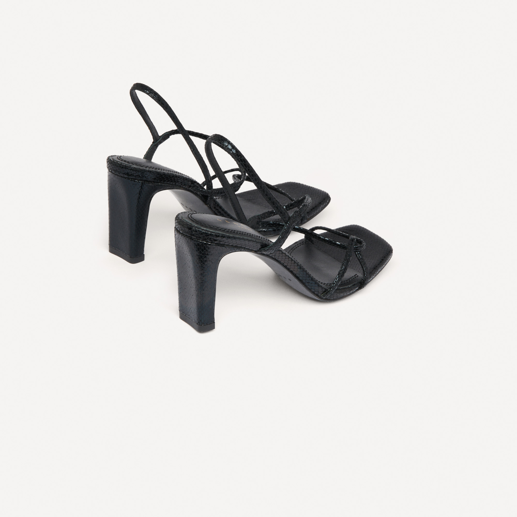 Sandals with narrow straps - Black
